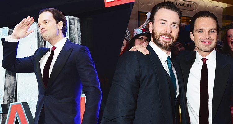 Sebastian Attends European Premiere of 'Civil War'