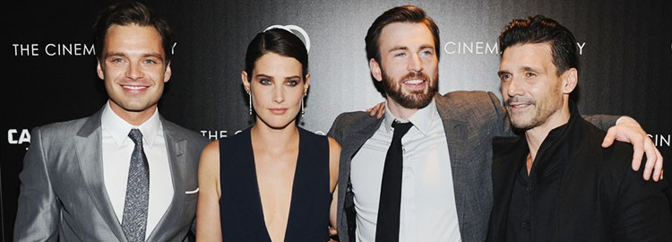 Sebastian Attends the Screening of Captain America: The Winter Soldier in New York