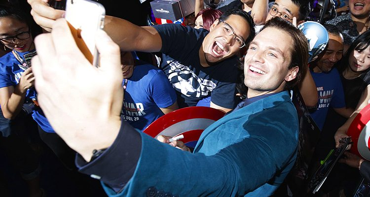 Sebastian Attends 'Civil War' Premiere in Singapore